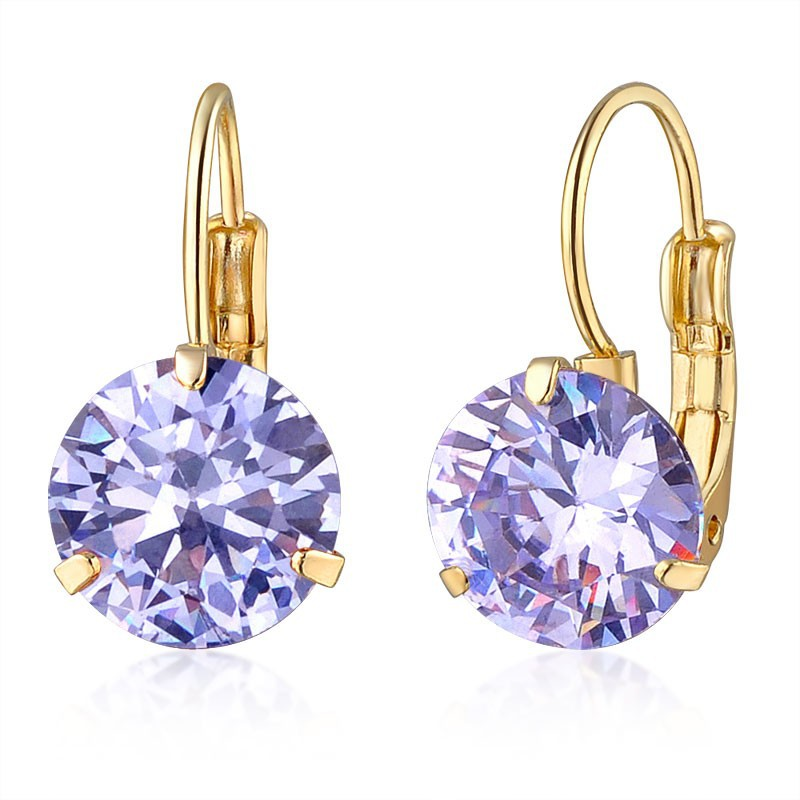 New fashion single stone series earring jewelry wholesale