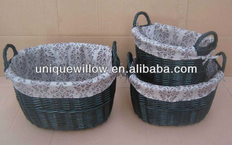 Oval Willow Basket,or Oval Willow Storage Basket with Ear Handles FG-100