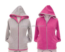 Shenzhen women wear 240-400 GSM mircro polar fleece women's hoodies all size spec wholesale soft warm pink hoodie