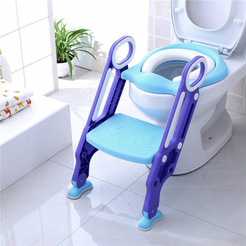 The Strong Folding Toddler Ladder Training Step Potty Baby Kid Toilet Seat