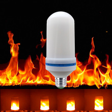 LED Flickering Flame Effect Fire Light Bulb