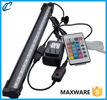Eco friendly zhongshan 12 v 24 v suministro maxware acuario led luz subacuática sumergible lámpara bar