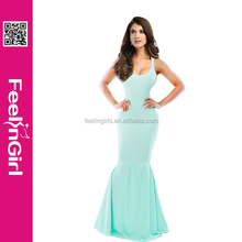 2014 nueva moda light green ladies party maxi <span class=keywords><strong>vestido</strong></span> <span class=keywords><strong>de</strong></span> coctel elegante