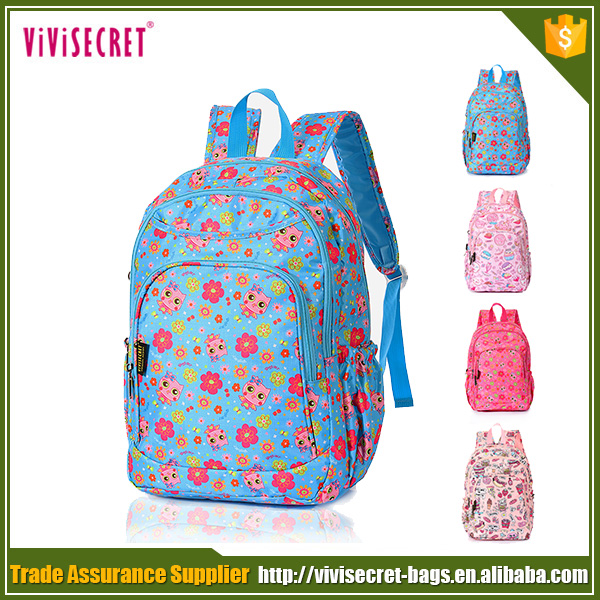 China manufacturer lovely school bagpack high quality nylon backpack blue book bag for children