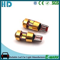 2016 years top selling for t10 27SMD 12v 5w wedge 3014 led lamps for tail lights