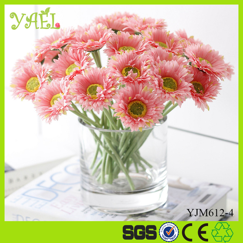 H20cm Daisy silk flowers artificial wedding table centerpieces