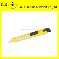 High quality carbon steel plastic retacable utility knife
