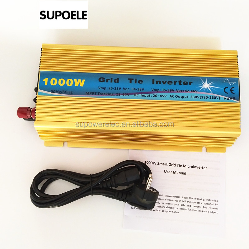 Input 20-45V dc 1KW Solar Grid tie micro Inverters 1000w MPPT function 110v or 220v output for Home/Office Solar Power System