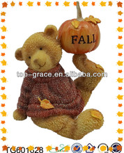Resin playing bear inflatable outdoor thanksgiving decorations