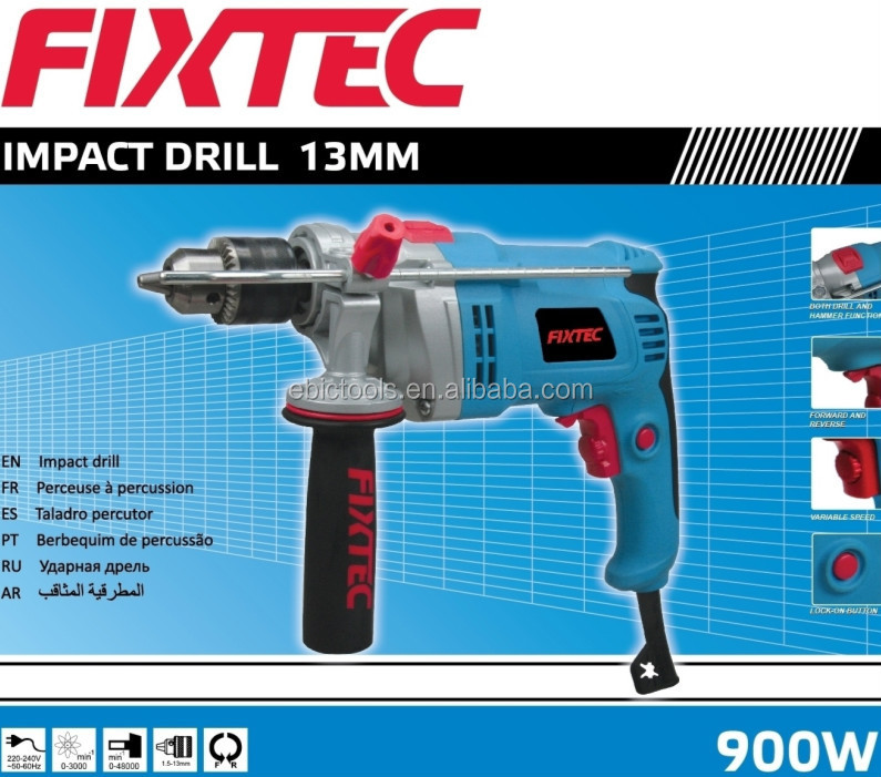 Fixtec 900W 13mm cheap industrial Impact Drill of Electric Dril