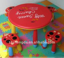 blow molded plastic chair and table