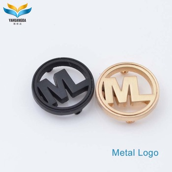 wholesale custom metal logo stickers with with engraved letters