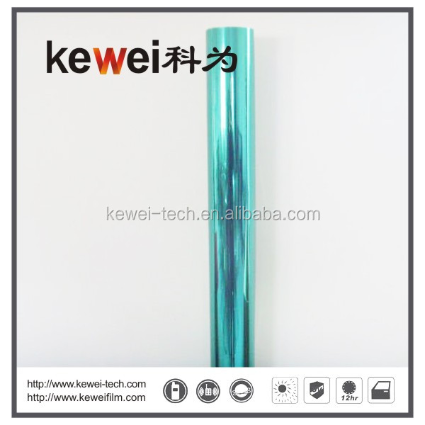 Imported Korea PET material Self-adhesive blue color car window tinted film with good quality