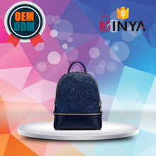 New style branded women PU leather backpack sequin paillette school bag