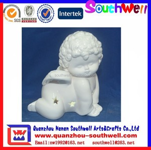 cute ceramic small angel figurines for baby souvenir wholesales