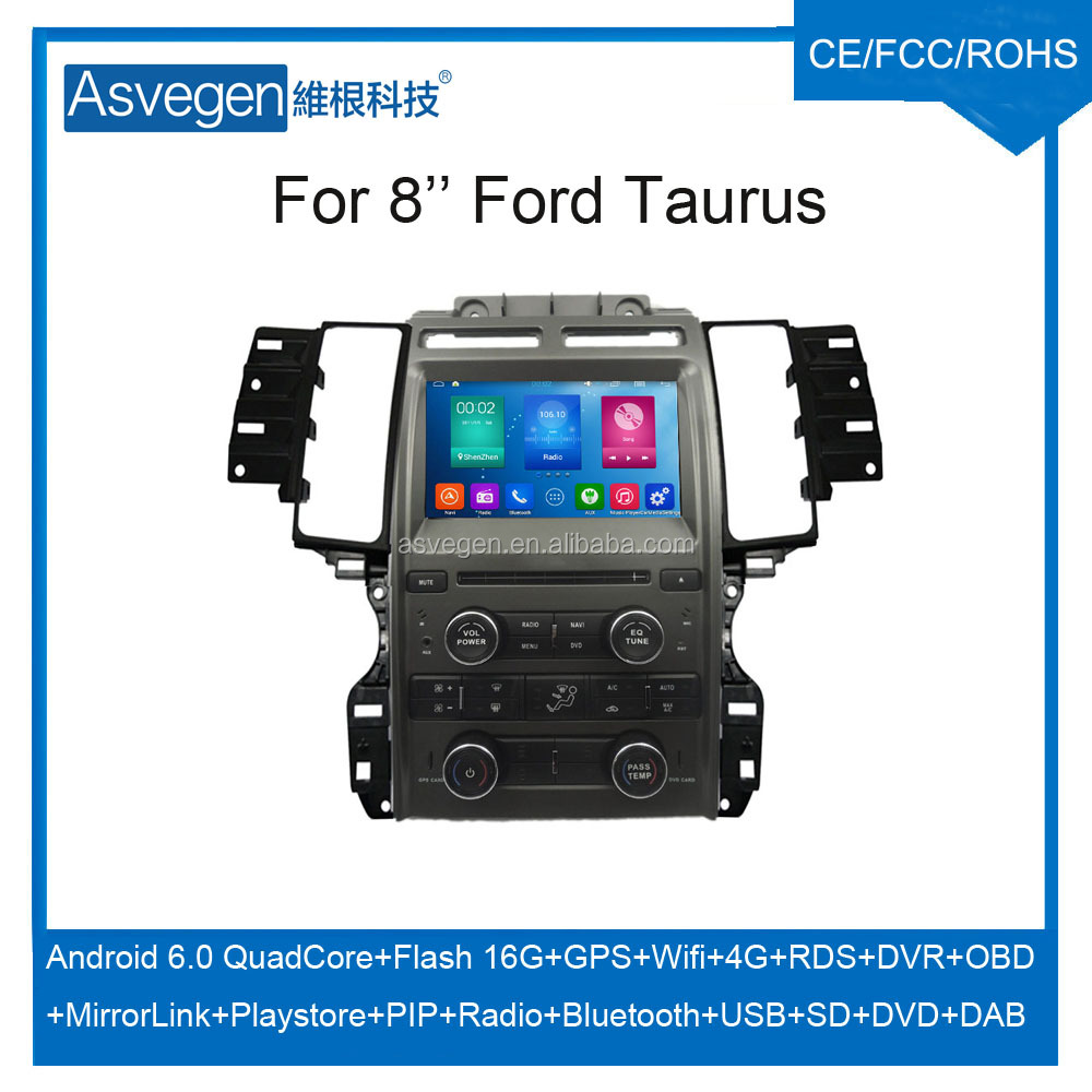 Wholesale Android Car DVD Player for 8'' Ford Taurus Navigation Car DVD GPS Support Playstore,4G,WIFI