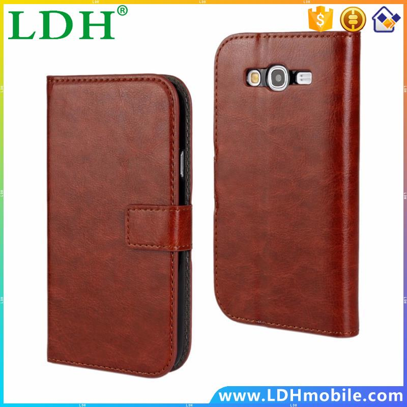 Luxury Brown Leather Wallet Flip Cover Case For Samsung Galaxy S7 S3 S4 S5 Mini S6 Edge Plus Note 3 4 G530 Phone Shell Cases