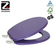 Colored decorative purple toilet seats