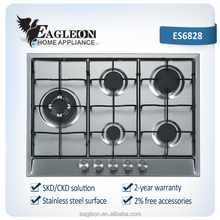 Stainless steel 5 burner coal stoves with CE