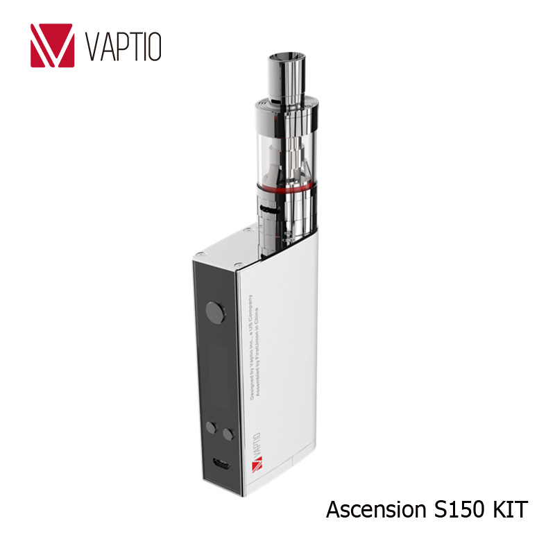 Vaptio electronic cigs 150w box mod Ascension S150 ATC/Ni200/Ti/SS316L temperature control vaping cheap