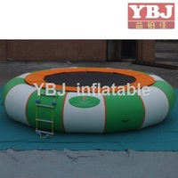 inflatable water games floating island inflatable trampoline from china