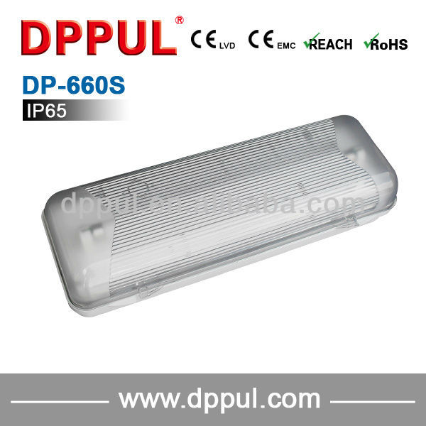 2016 Newest Emergency bulkhead lamp DP660S IP65 Bulkhead 2x8w fluorescent Emergency Light