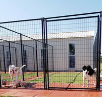 6'H x 5'W Black Welded Wire Kennel Panel / Dog run fence panel For Dog Suites.