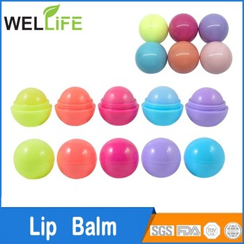 round ball shape lip balm made in China