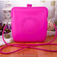 in stock wholesale <strong>fashion</strong> women's silicone shoulder bag