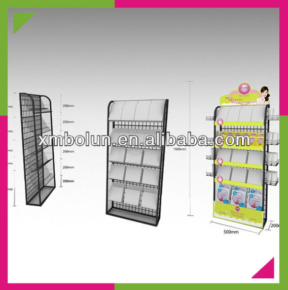 metal tile display rack for retail stores