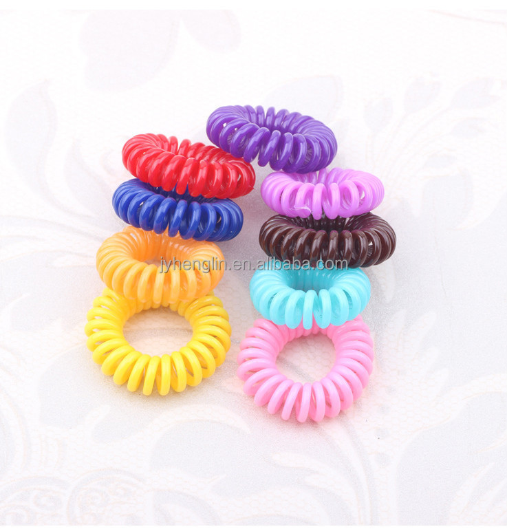 micro telephone wire hairband 2015 hot sale latex free hair elastics