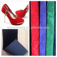 PU material shoe nubuck leather for lady shoes usage