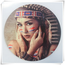 sublimation coating mdf wood photo jigsaw puzzles 3mm thickness round size 17cm