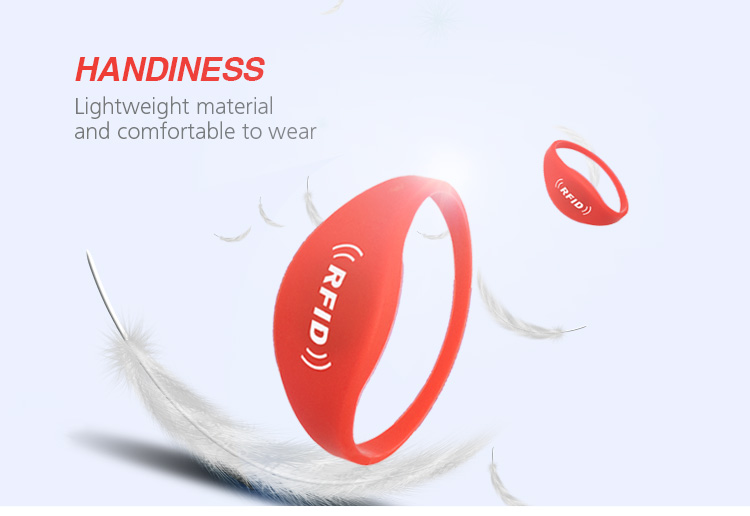 Hot Sell HYWGJ05 Custom Printing RFID Silicone Wristband Price