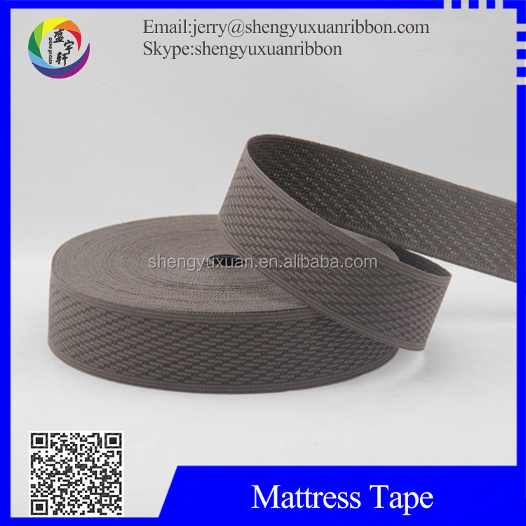 TOP QUALITY Knitted polyester elastic bands mattress tape(MT-W25)