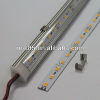 Storage shelves LED bar, 90 deg corner back, frosted or transparent cover, mounting clips, end caps, Shenzhen factory