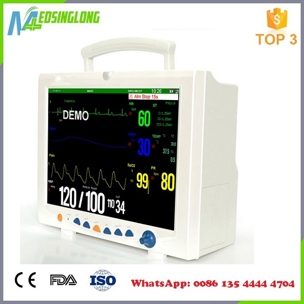 Portable Multi-parameter Patient Monitor Price/clinical patient monitor(MSLMP14)