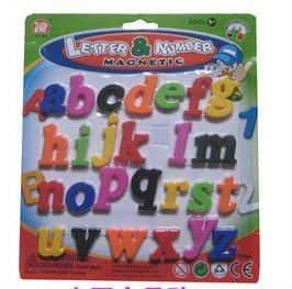 2014 Top Sale!! Magnetic Alphabet Educational plastic toy baby house