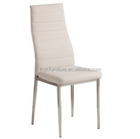 White leather chairs modern appearance chairs dining room chairs with metal legs