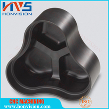 black ultem machining interior bead blasted exterior vapor polished with laser engraving