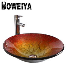 Portable Cap Shape Red Colored Glass Moroccan Bathroom Sink Price