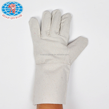 yellow cotton liner long cuff latex oil field leather working jewelry cleaning work gloves