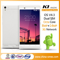 "Android 4.3 MTK6592 Octa Core 1.7GHz 2GB/16GB 5.5"" FHD IPS Screen front 8Mp back 14Mp camera GPS NFC FM BT K1 Turbo mobile phone"