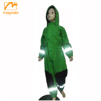 2017 Children clothing comfortable rain jackets one piece rain suit for kids
