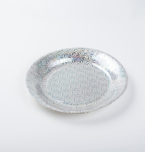 YR Disposable Sliver Holographic Paper Round Plate Disposable Appetizer Dish