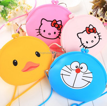 Colorful hot sales waterproof silicone shoulder bag for ladies coin purse silicone bag