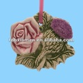 ceramic rose decor for christmas tree