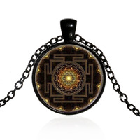 Europe sweater chain Sri Lanka Yantra Time gem necklace for women men Halloween Gifts jewelry