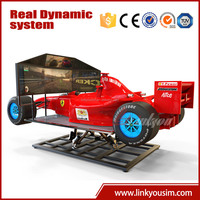 2015 electronic game machine selling amazing product motion-based and flexible F1 racing games car driving training simulator
