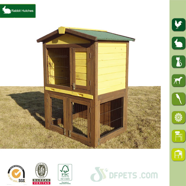 Small Animal 2-Storey Wooden Rabbit House
